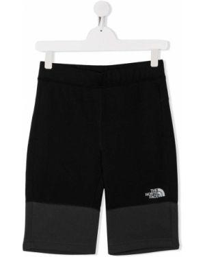 Ватные хлопковые черные шорты до середины колена The North Face Kids