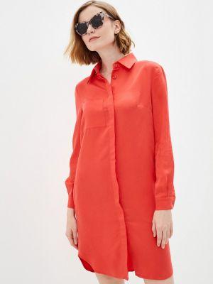 Красное платье рубашка Katya Erokhina