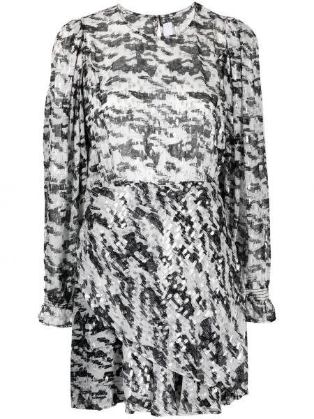 Czarna sukienka długa z długimi rękawami z wiskozy Iro