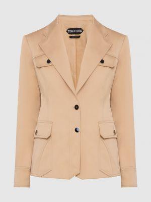 Бежевый пиджак Tom Ford