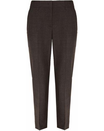 Шерстяные классические брюки - серые Prada