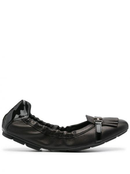 Кожаные монки - черные Hogan