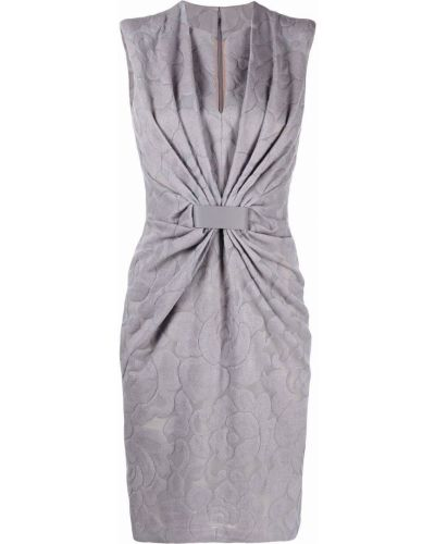Серое платье с рисунком Giorgio Armani