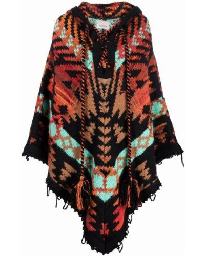 Пальто из альпаки - черное Laneus