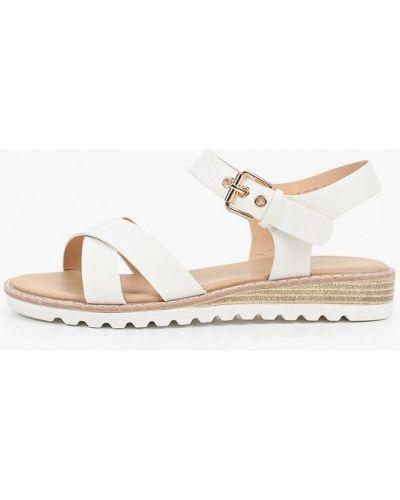 Белые кожаные сандалии Inario
