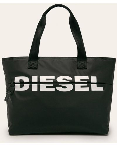Черная сумка через плечо с перьями Diesel