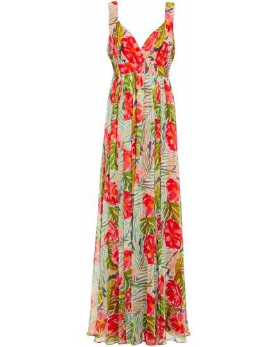 Zielona sukienka z printem Badgley Mischka