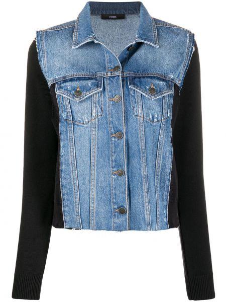 Хлопковая джинсовая куртка - черная Diesel