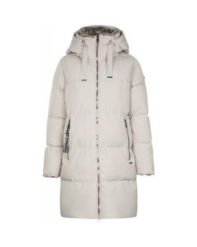 Бежевая теплая свободная утепленная куртка свободного кроя Luhta