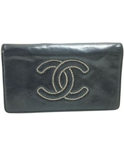 Czarny portfel Chanel Vintage