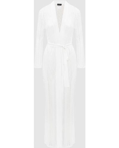 Белое кружевное платье Moeva