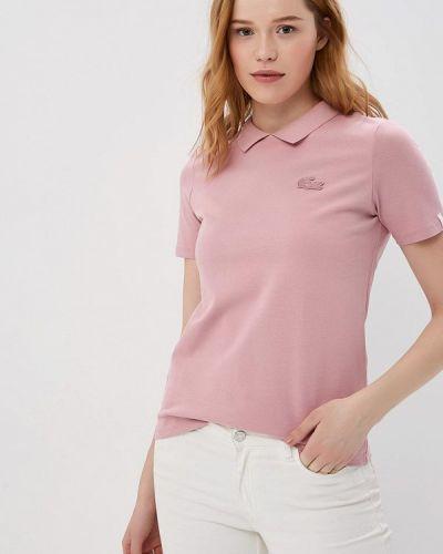 Розовое поло Lacoste