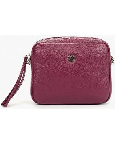 Кожаная сумка через плечо фиолетовый Afina