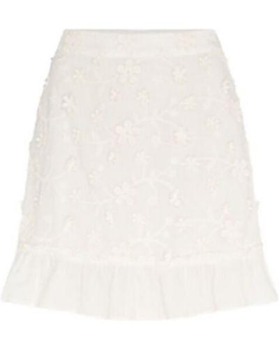 Spódnica z falbanami - biała Fabienne Chapot