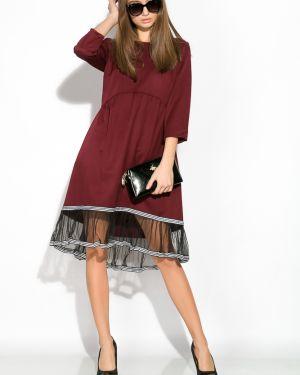 Платье с поясом на торжество с рукавами Time Of Style
