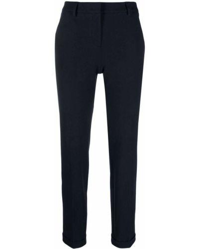 Хлопковые синие брюки с отворотом Incotex