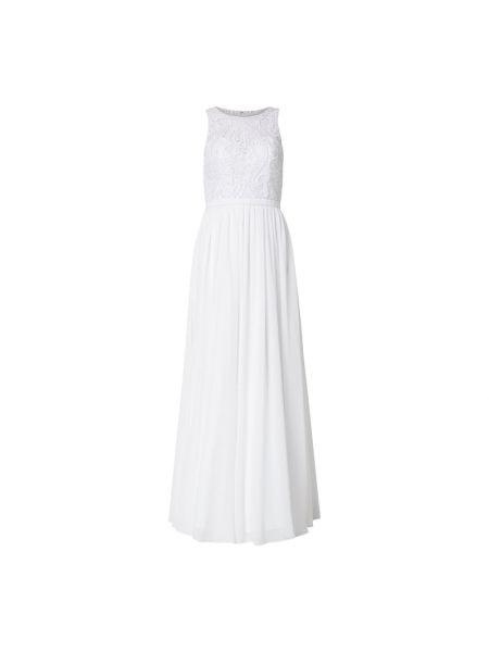 Biała sukienka wieczorowa rozkloszowana tiulowa Mascara