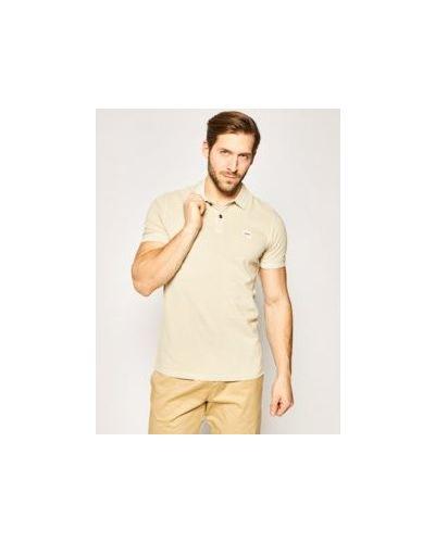 Beżowy bawełna bawełna koszulka polo Boss