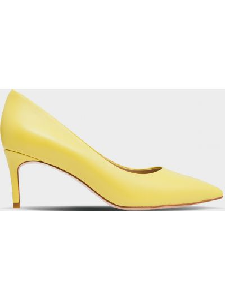 Кожаные туфли - желтые Braska