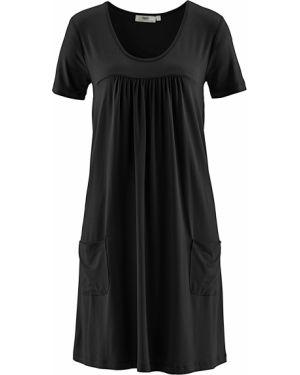 Платье миди со складками ампир Bonprix