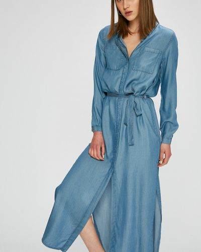 Платье макси с карманами однотонное Only