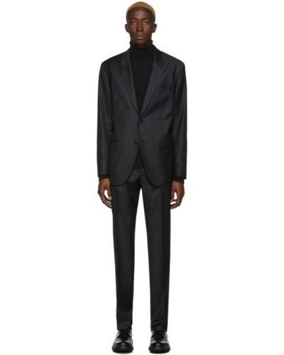 Шерстяной брючный черный брючный костюм Hugo