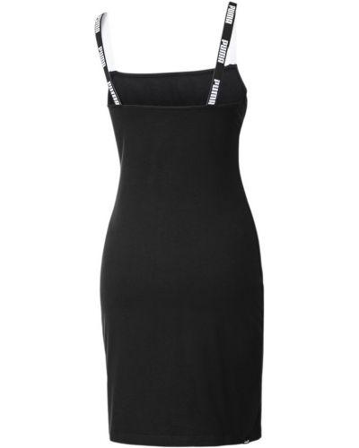 Облегающее черное платье закрытое Puma