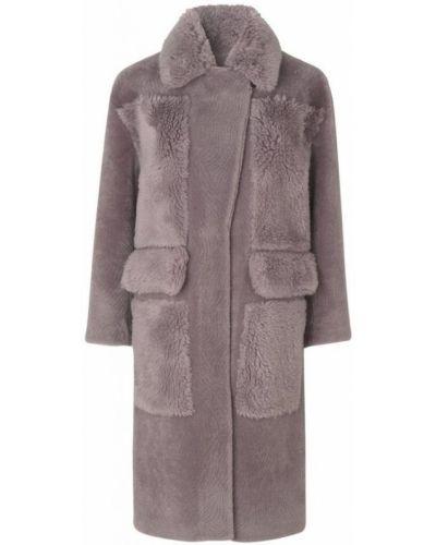 Fioletowy płaszcz oversize Ravn