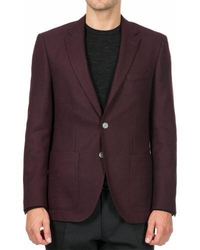 Пиджак шерстяной красный Hugo Boss