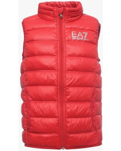 Жилетка красная теплая Ea7