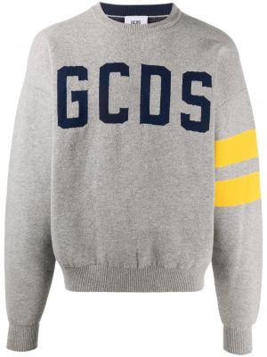 С рукавами серый джемпер с вырезом Gcds
