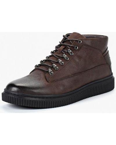 Ботинки осенние кожаные коричневый Rosconi