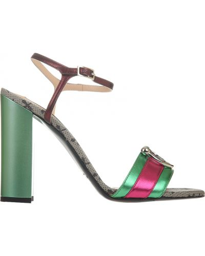 Босоножки на каблуке зеленый John Richmond