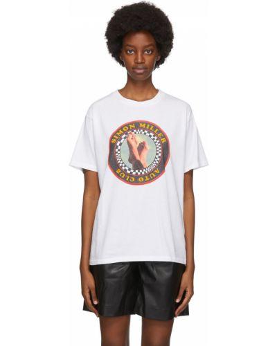 Biały t-shirt krótki rękaw bawełniany Simon Miller