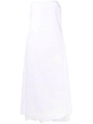 Хлопковое платье миди - белое N°21