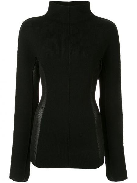 С рукавами шерстяной черный свитер прозрачный Yang Li