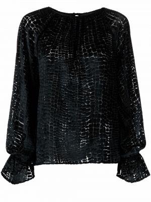 Bluzka z aksamitu - czarna Philipp Plein