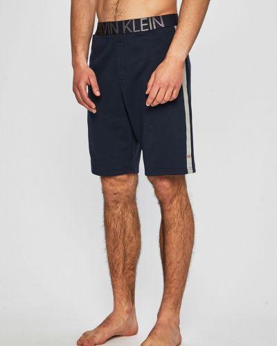 Piżama długo czerwony Calvin Klein Underwear