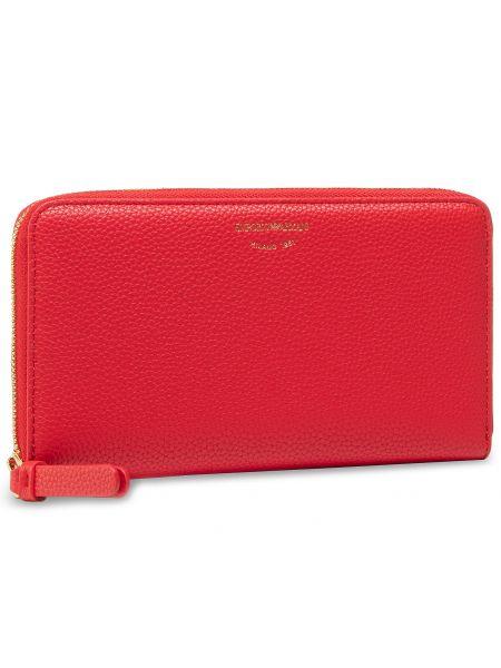 Czerwony portfel oversize Emporio Armani