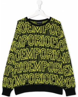 Джемпер черный желтый Emporio Armani Kids