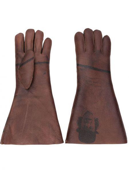 Brązowe rękawiczki Undercover