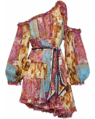 Sukienka mini z jedwabiu Zimmermann