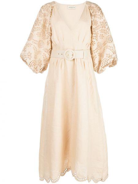 Платье миди с вышивкой с V-образным вырезом Nicholas