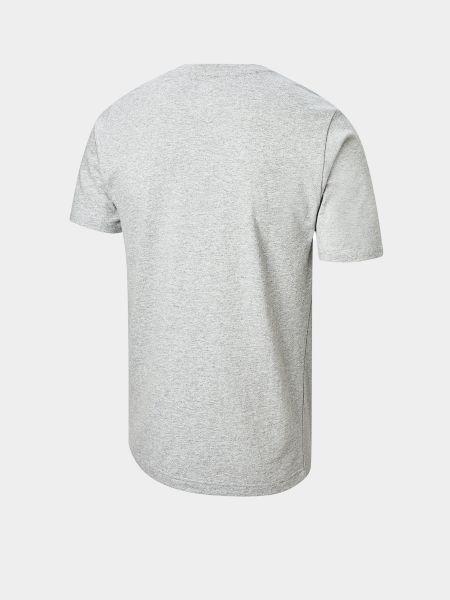 Хлопковая серая футболка с вырезом New Balance