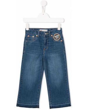 Синие кожаные джинсы с поясом свободного кроя Levi`s Kids
