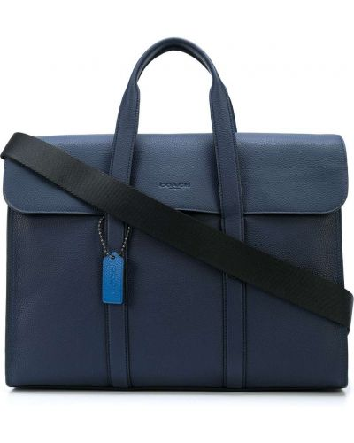 Teczka skórzana - niebieska Coach