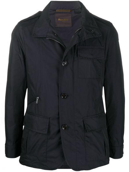 Długa kurtka niebieska z guzikami Moorer
