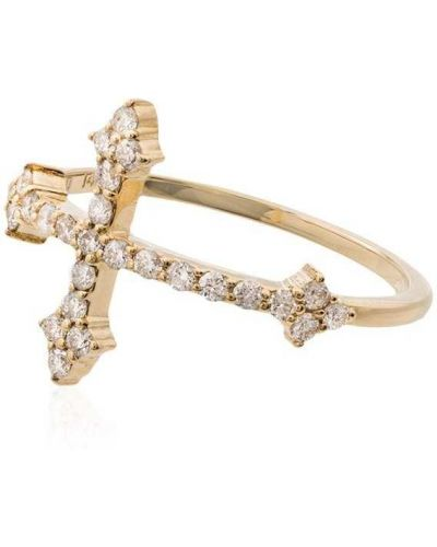 Желтый крест с бриллиантом Dru