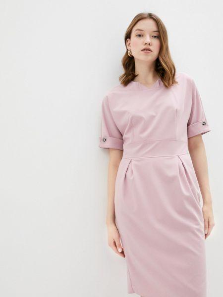 Платье розовое прямое Sezoni