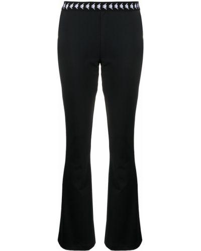 Расклешенные черные брюки с поясом Kappa
